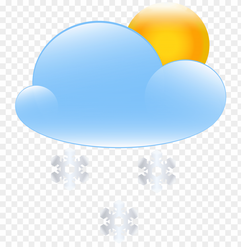 Download sun cloud and snow weather icon clipart png photo  @toppng.com