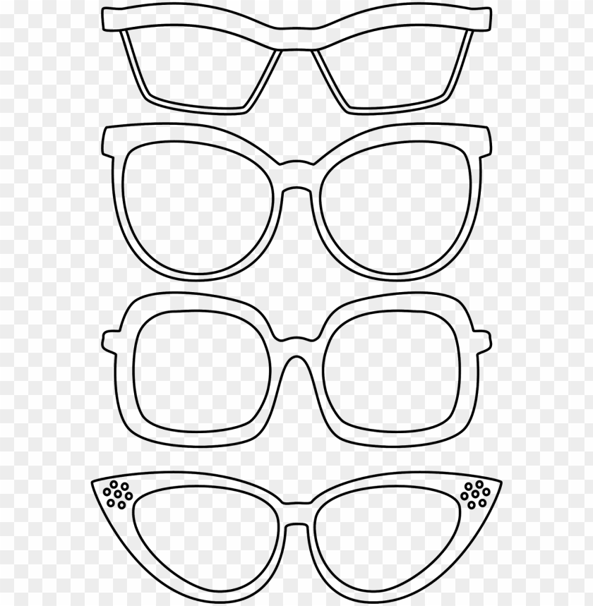 Sunglasses Coloring Page Toppng