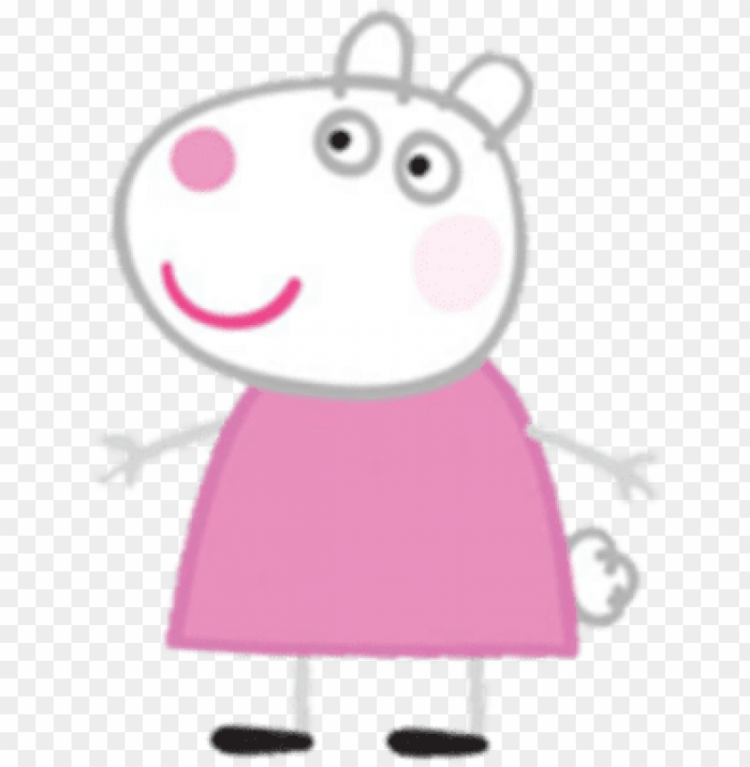 picture regarding Peppa Pig Character Free Printable Images identified as suzy sheep - peppa pig figures PNG graphic with clear