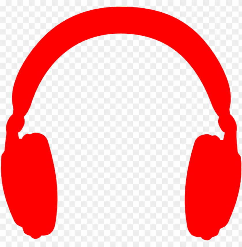 svg library stock icons without background- red headphone