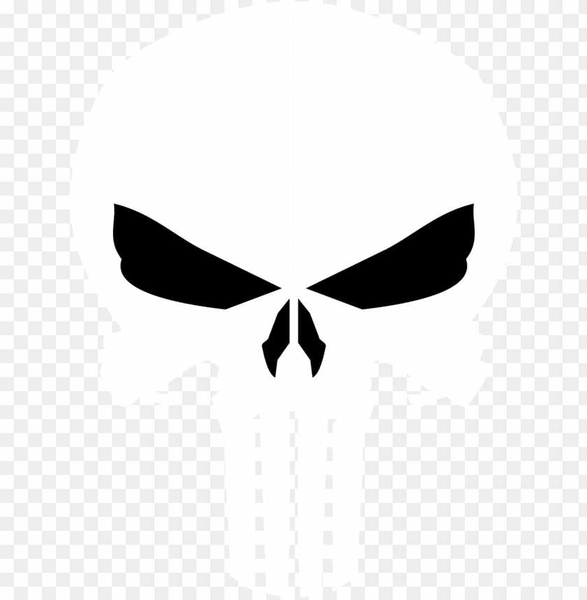 svg logo punisher - punisher skull PNG image with