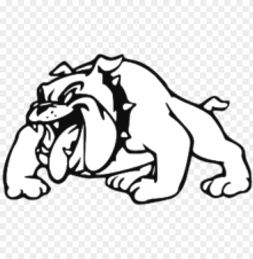svg royalty free download bulldog clipart black and - st cloud high