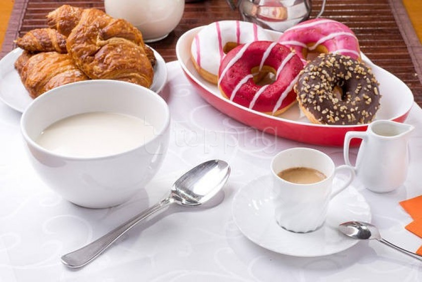 free PNG sweet breakfast milk and coffee background best stock photos PNG images transparent