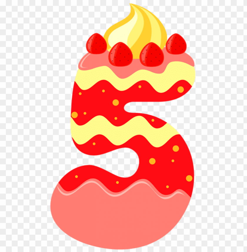 free PNG Download sweet number five clipart png photo   PNG images transparent