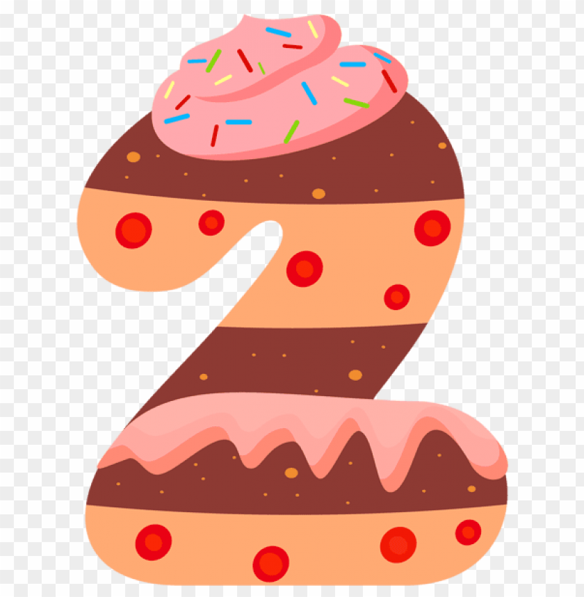 free PNG Download sweet number two clipart png photo   PNG images transparent