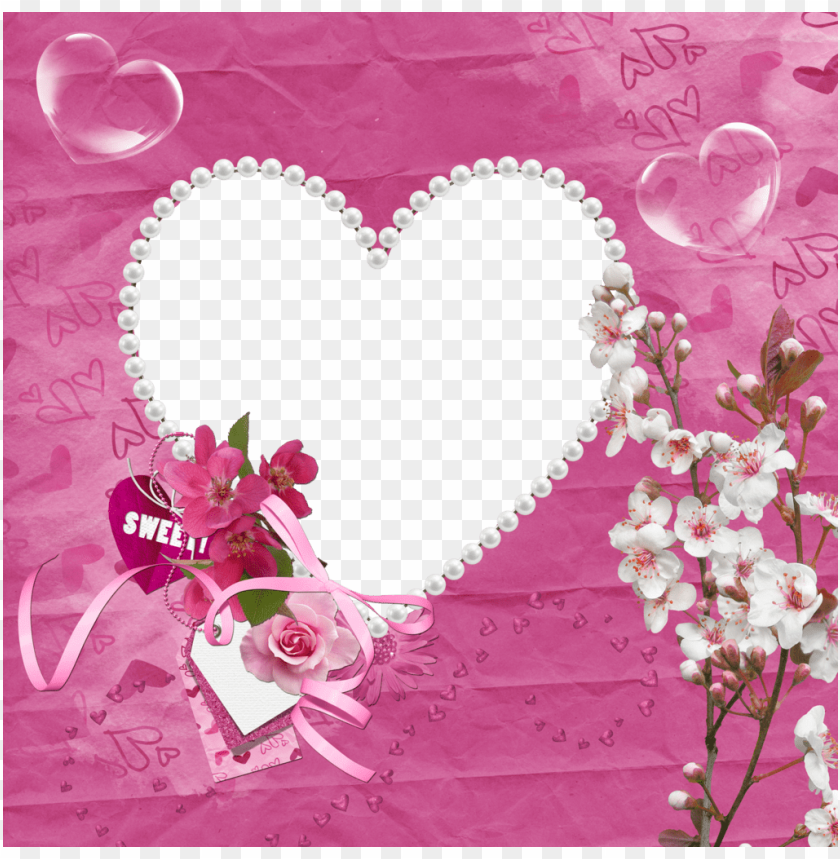 free PNG sweet pink transparent heart frame background best stock photos PNG images transparent