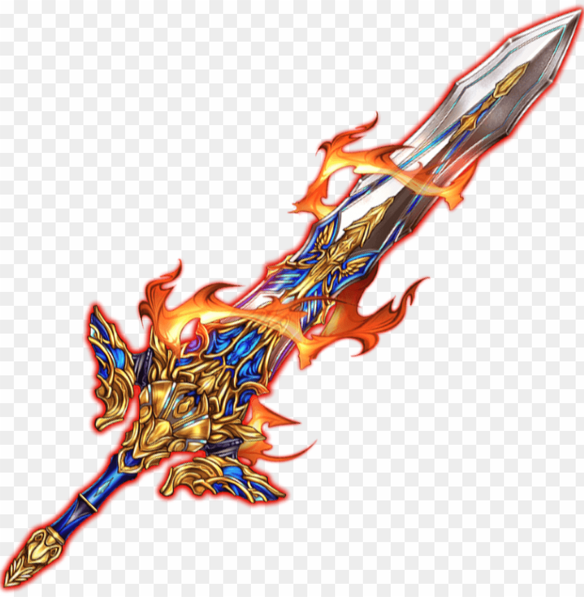 sword excalibur - fire - wiki PNG image with transparent
