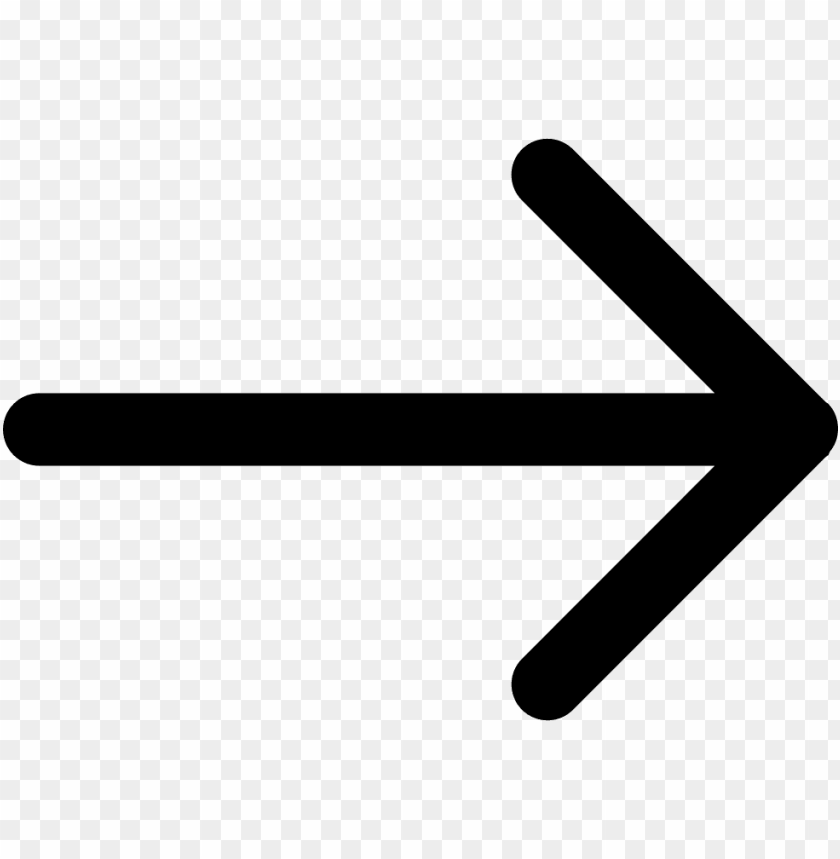 symbol arrow pointing right PNG image with transparent