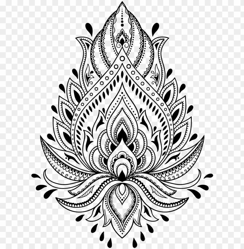 tattoo henna stencil template mehndi free hd image , vector