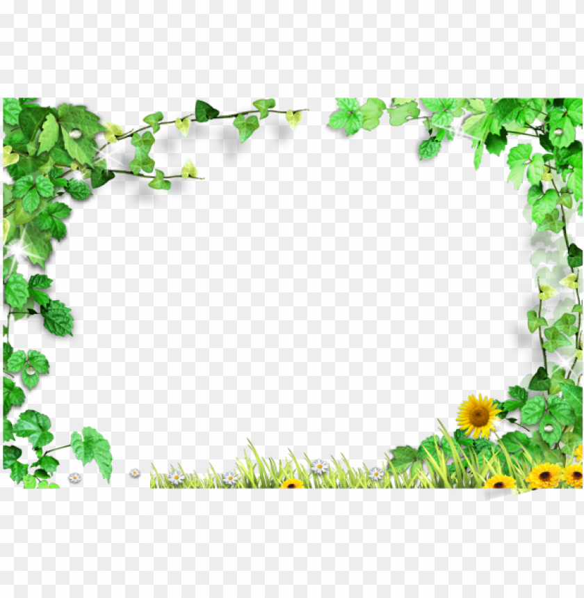 free PNG template green leaves frame - green leaves background free PNG image with transparent background PNG images transparent