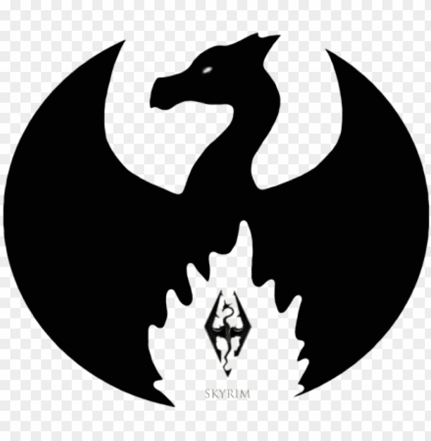 Tes 5 Skyrim Icon Logo Dragon No Background Png Image With