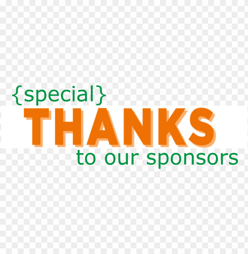 free PNG thanks to sponsors - thank you sponsors PNG image with transparent background PNG images transparent