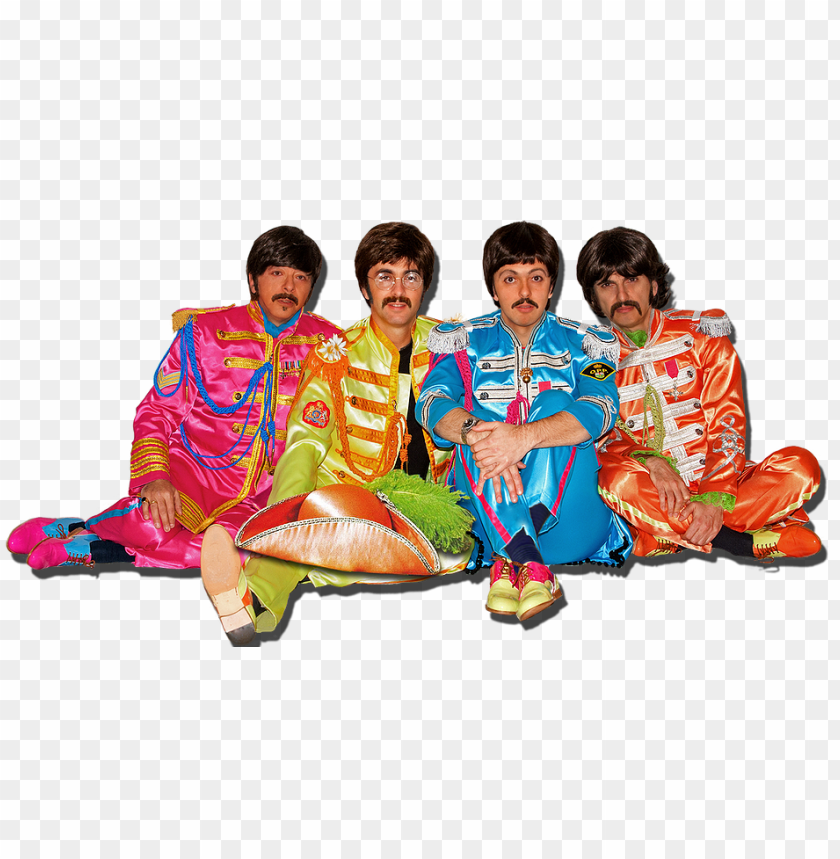 free PNG the beatles png wallpaper - beatles sgt pepper PNG image with transparent background PNG images transparent