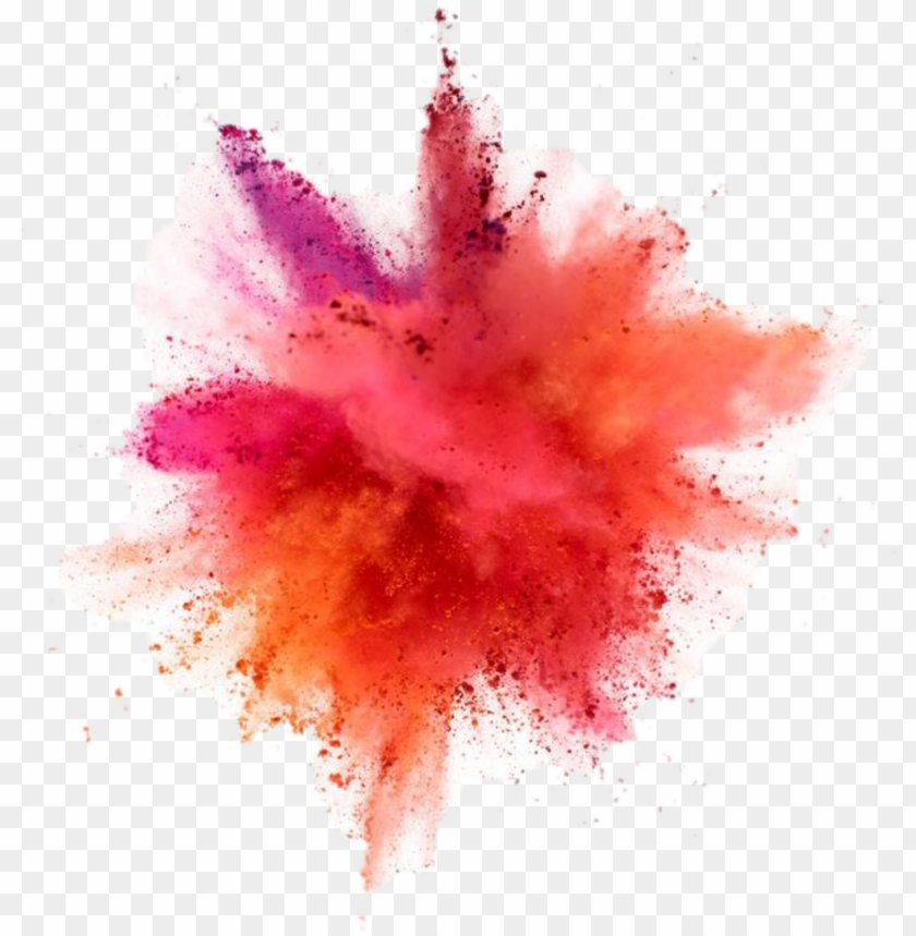 free PNG the explosion of color - paint powder explosion PNG image with transparent background PNG images transparent