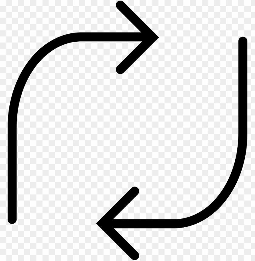 Thin Arrow Icon Curved Png Image With Transparent Background Toppng