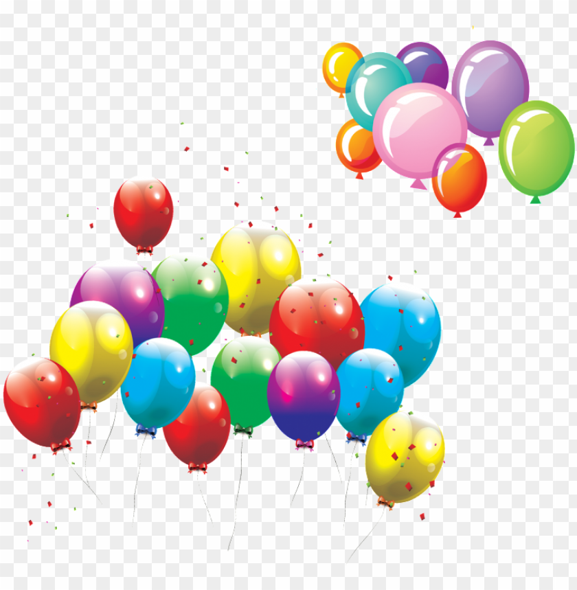 free PNG this graphics is cartoon multicolored balloons decorative - happy birthday vector PNG image with transparent background PNG images transparent