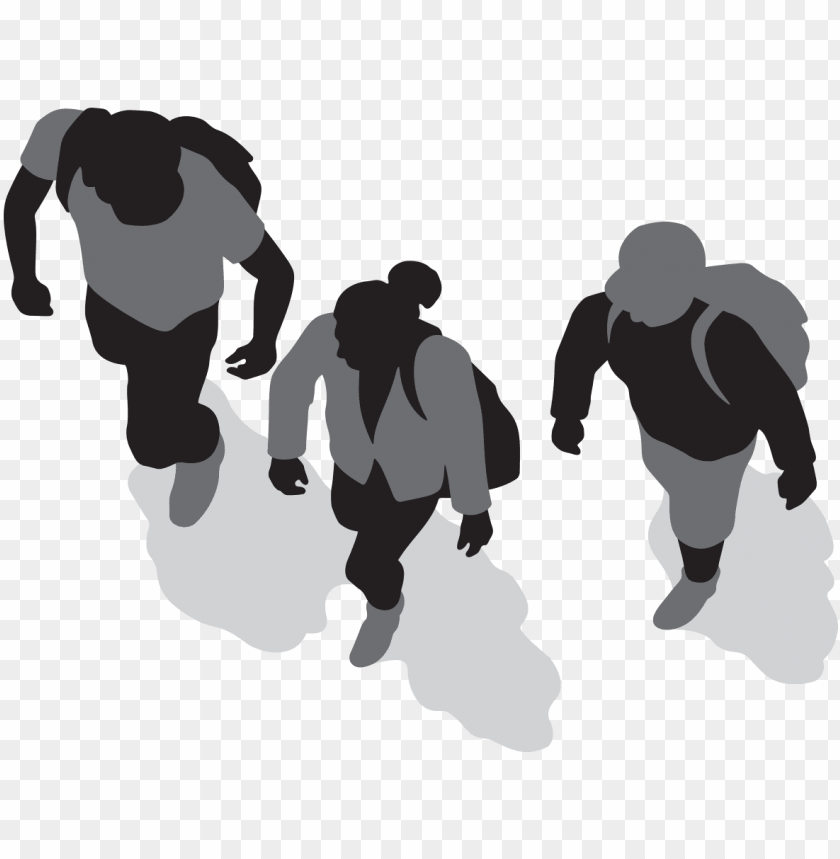 free PNG three people walking - people top view transparent PNG image with transparent background PNG images transparent