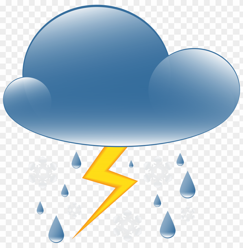 free png thunder rain and snow weather icon PNG images transparent
