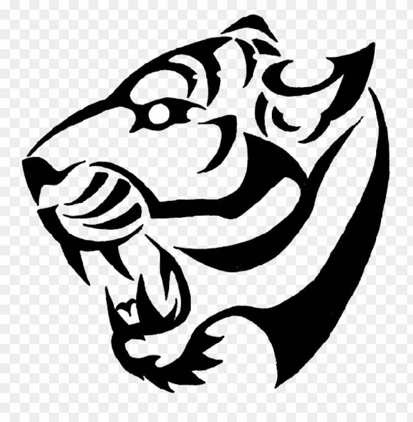 free PNG tiger tattoo bw PNG image with transparent background PNG images transparent