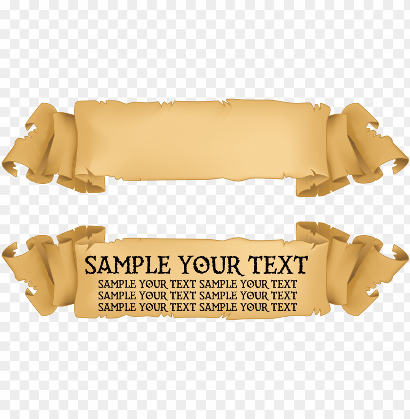 free PNG title banner png - old paper ribbon vector PNG image with transparent background PNG images transparent