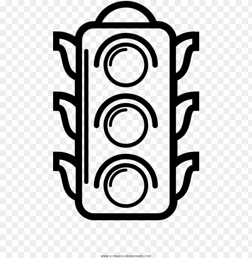 Traffic Light Coloring Page Dibujo De Un Semaforo Para