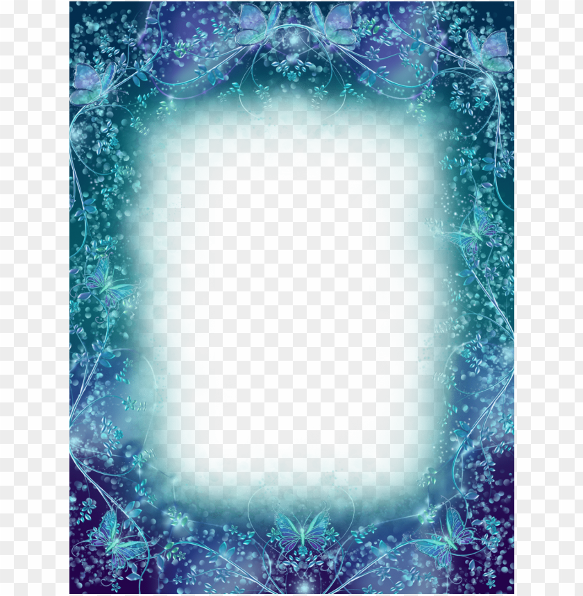 free PNG transparen magic frame with butterflies background best stock photos PNG images transparent