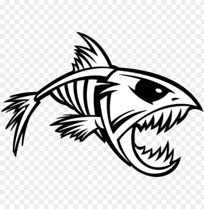 transparent bones fish - fish skeleton svg free PNG image