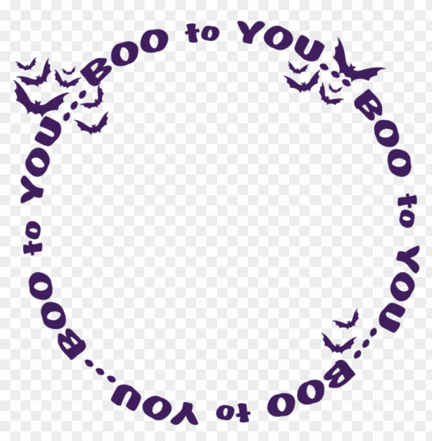 free PNG transparent boo to you halloween decoration PNG images transparent
