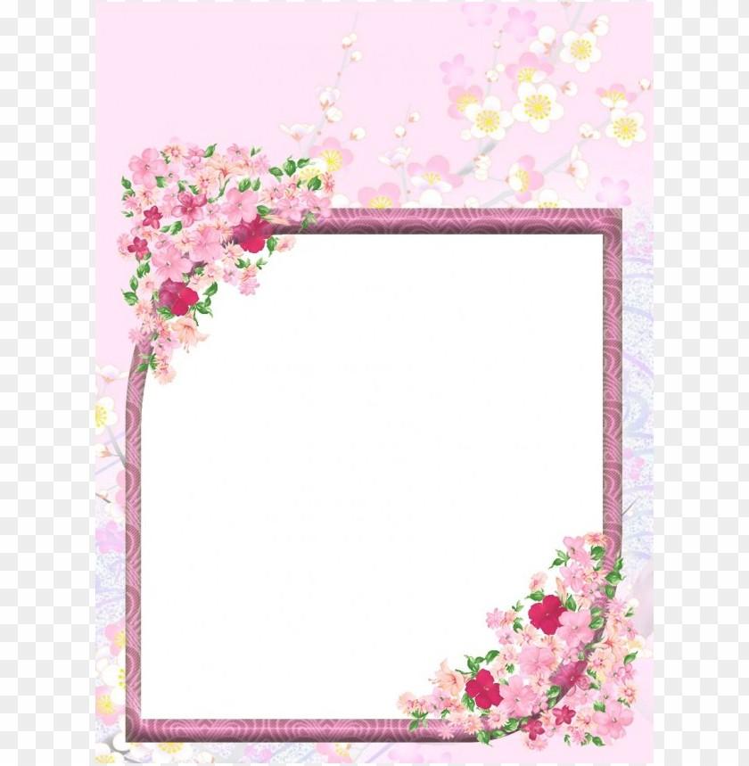 Transparent Flowers Border Png Image With Transparent Background