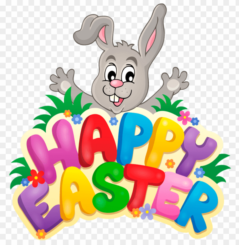 free PNG Download transparent happy easter with bunnypicture png images background PNG images transparent