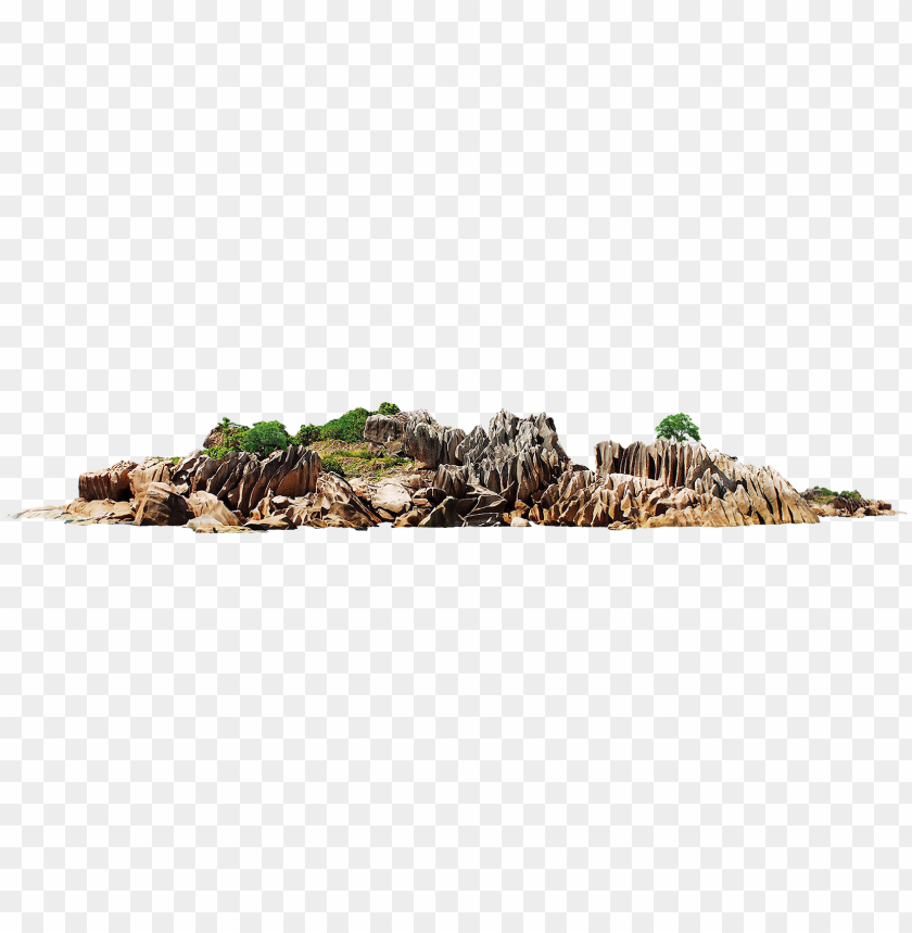 transparent island rock - sea rocks PNG image with