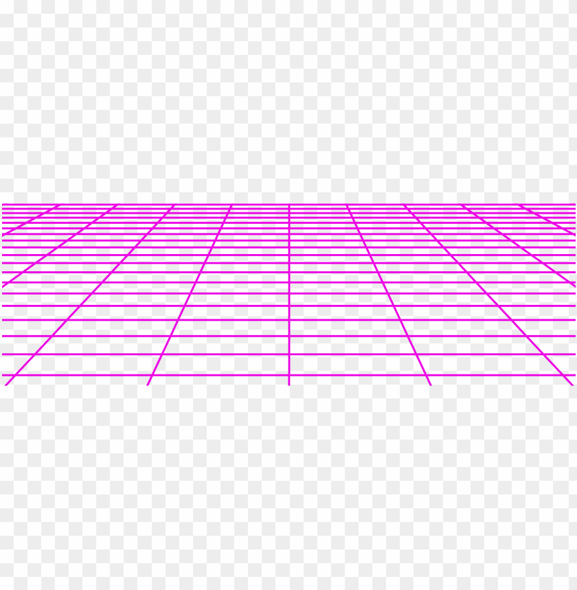 transparent objects vaporwave - 80's grid PNG image with