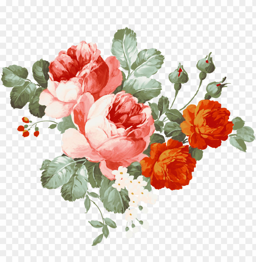 transparent watercolor flowers PNG image with transparent