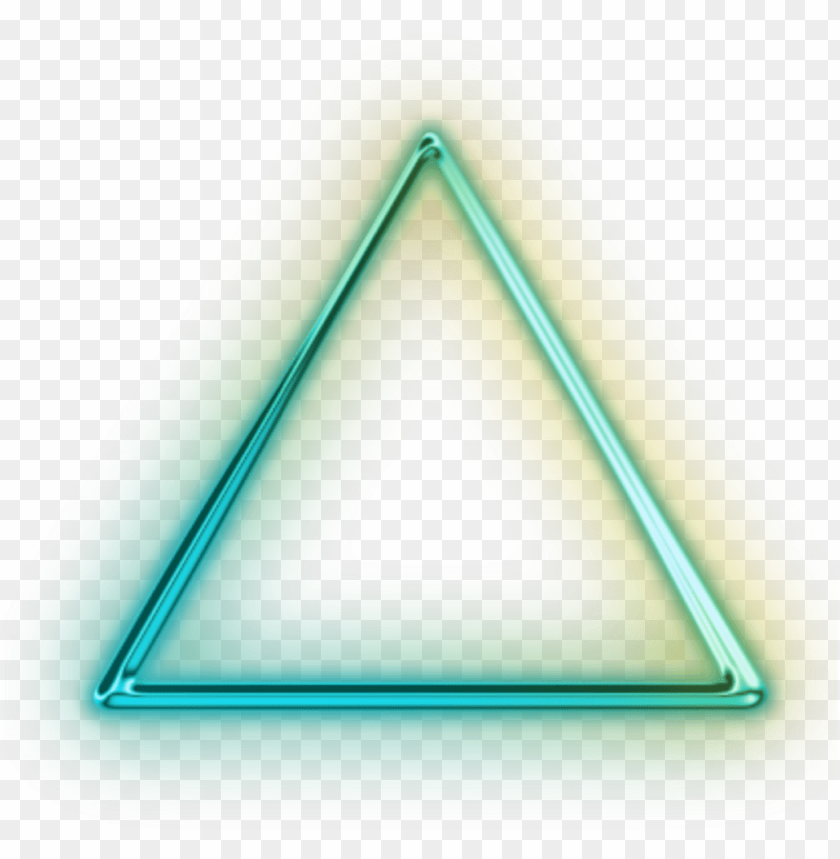 triangle neon for picsart PNG image with transparent