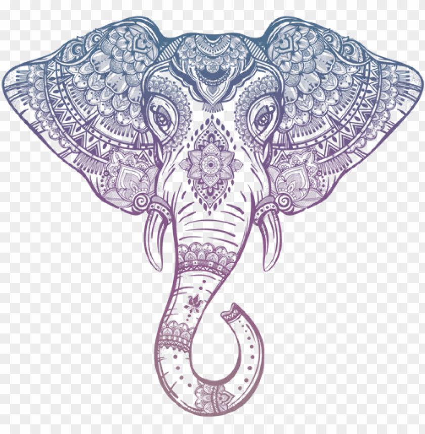 free PNG Download tribal elephant head outline png images background PNG images transparent