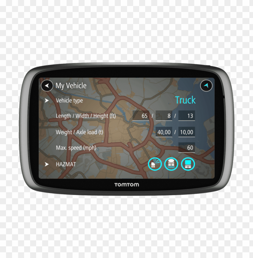 free PNG trucker 600 tomtom gps PNG image with transparent background PNG images transparent