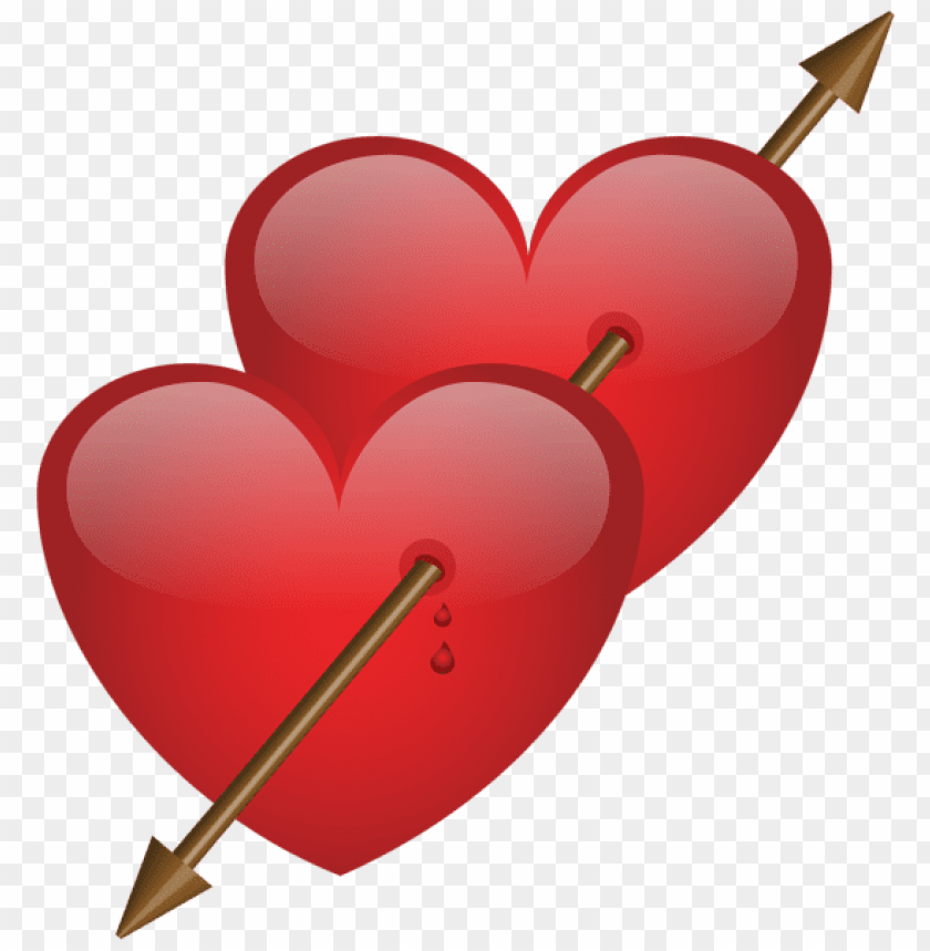 Two Hearts With Arrow Png Free Png Images Toppng
