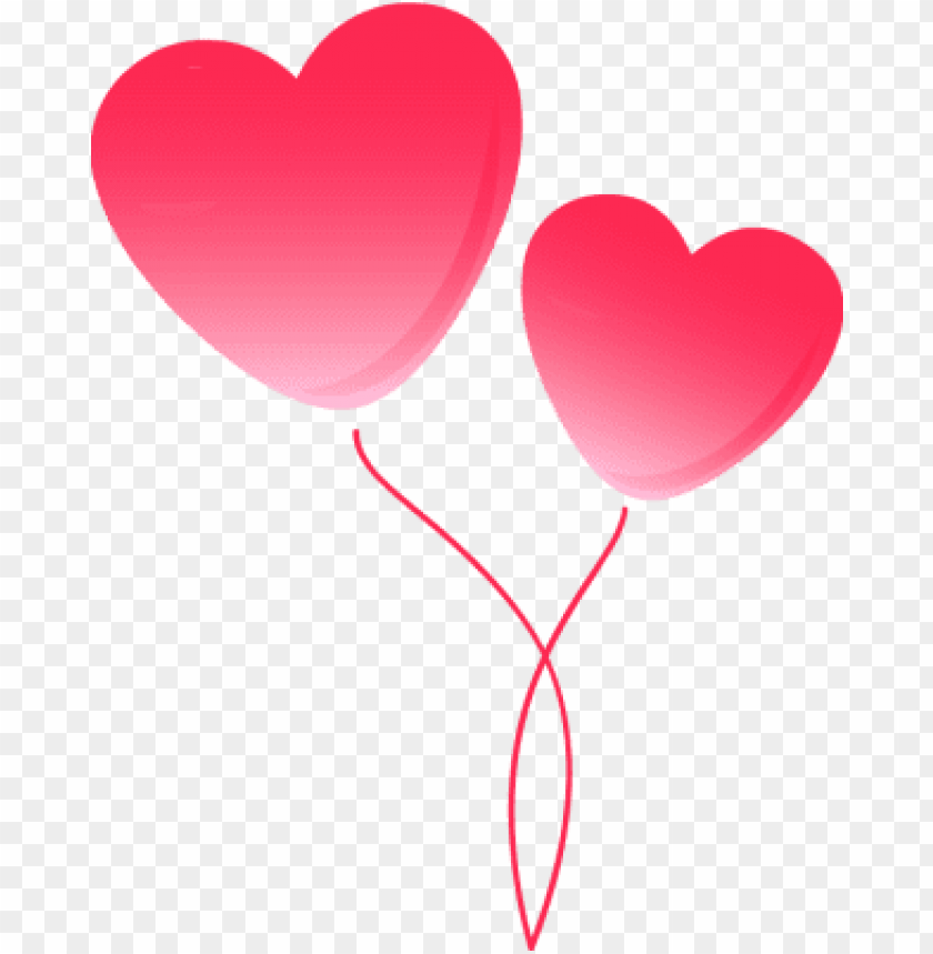 two pink heart balloons - pink heart balloon PNG image with