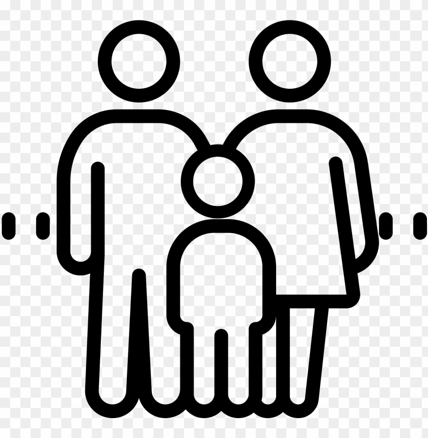 uclear family child computer icons divorce - family line ico PNG