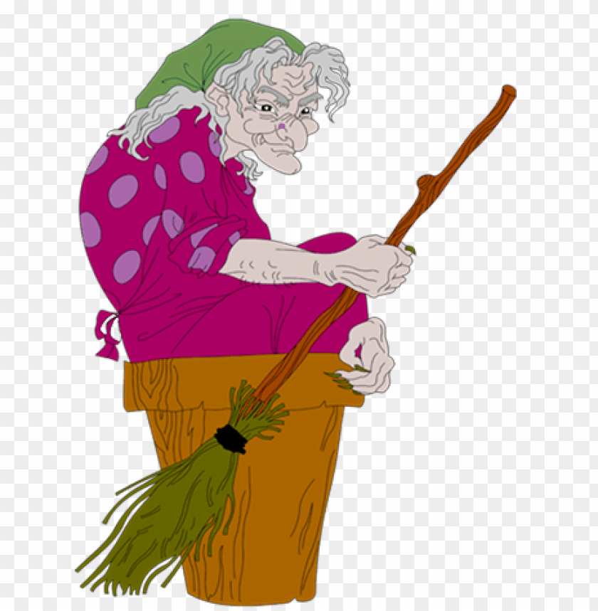free PNG ugly witch with broom PNG images transparent