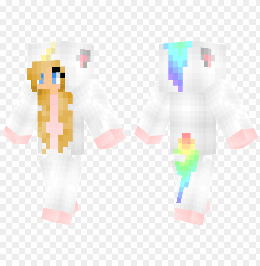 unicorn - minecraft skins girl bunny PNG image with transparent
