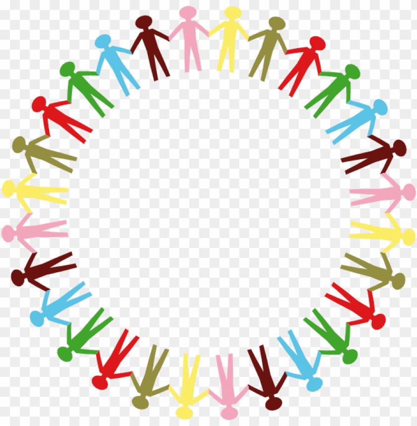 unity transparent word art - stick figure holding hands
