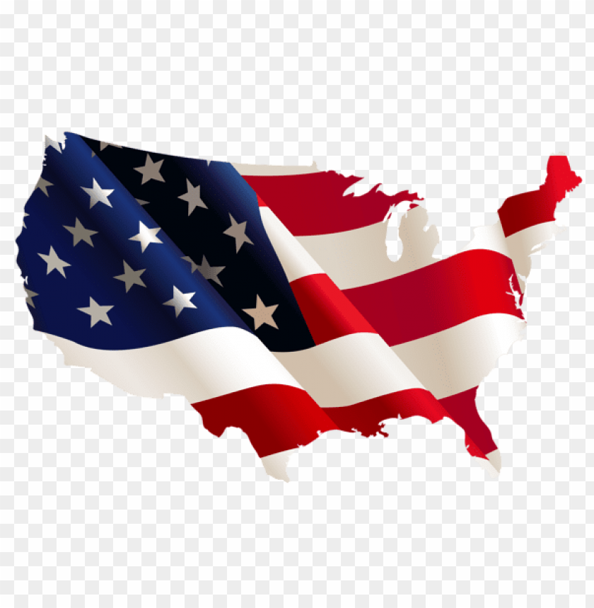 Download Usa Flag Map Png Images Background Toppng - Us-map-transparent-background