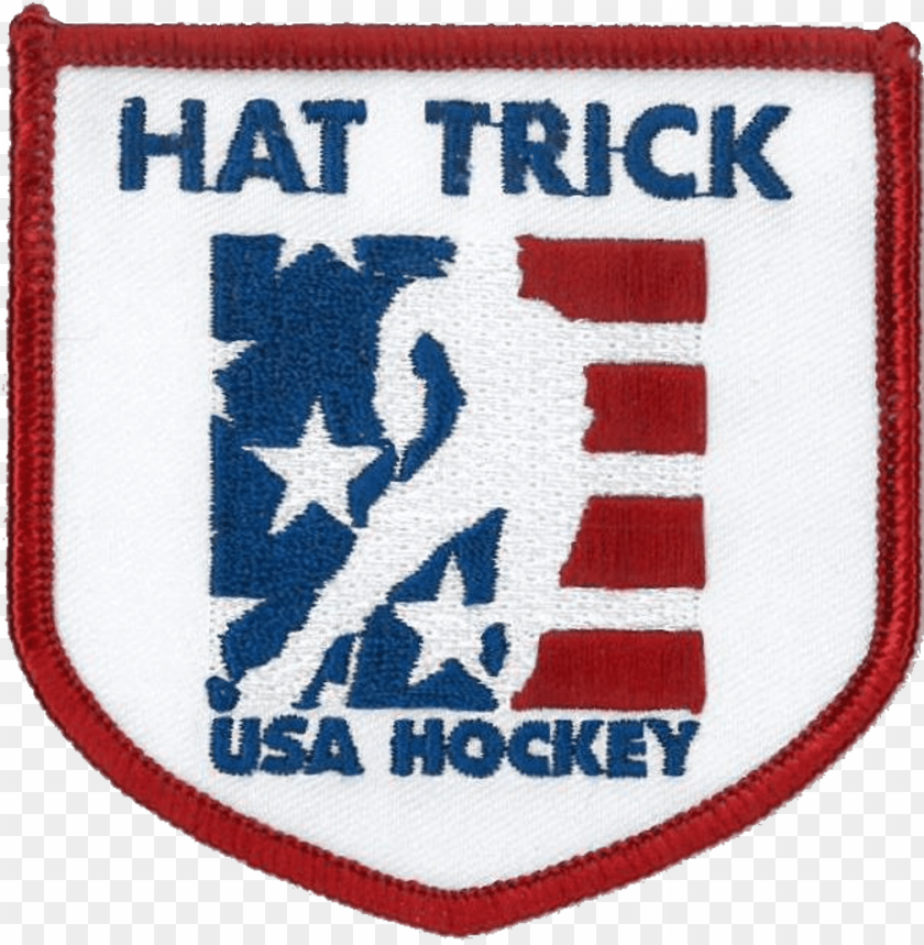 usa hockey hat trick patch PNG image with transparent