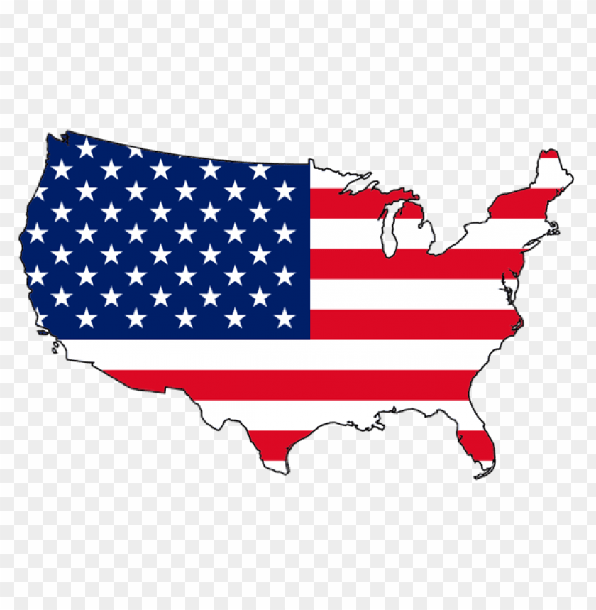 Download Usa Map Flag Png Images Background Toppng - Us-map-transparent-background