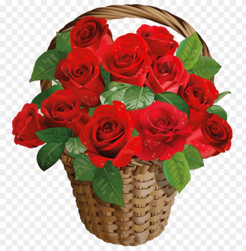 Download Valentine Gift Rose Basketpicture Png Images Background