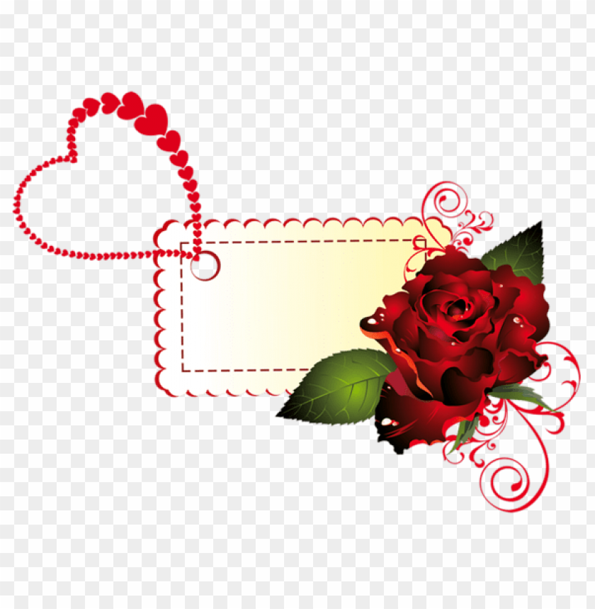 Download Valentine Rose Labelpicture Png Images Background Toppng