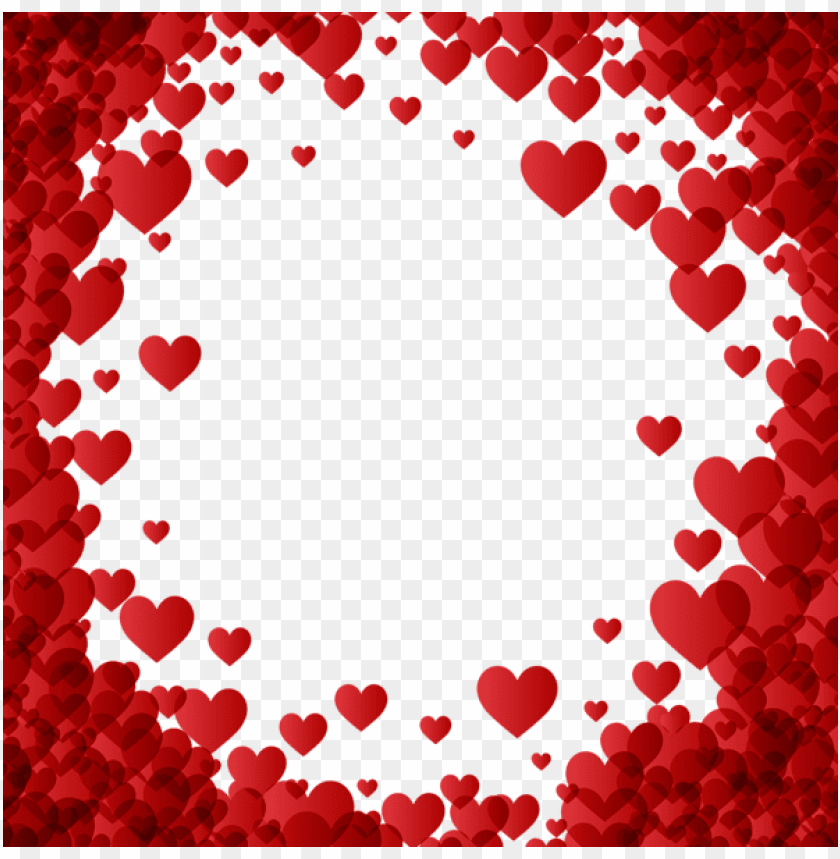 Valentine S Day Heart Border Frame Transparent Png Free Png Images