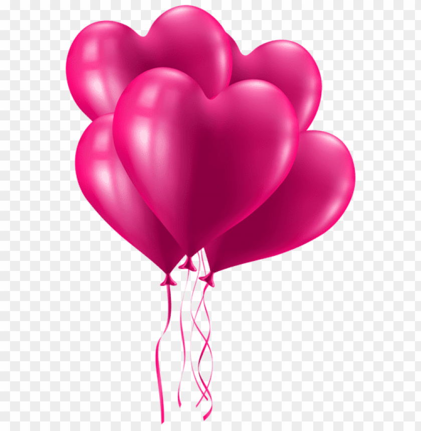 Valentine S Day Pink Heart Balloons Png Free Png Images Toppng
