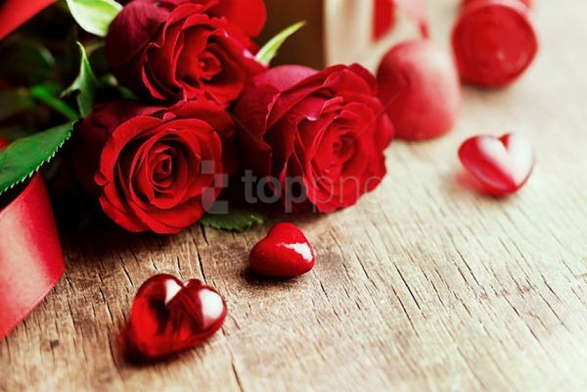Best Stock Photos Valentine S Roses And Hearts Background Toppng